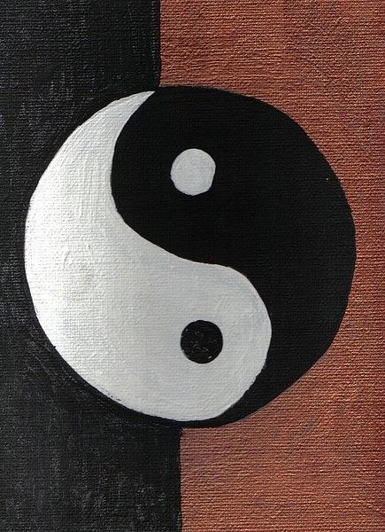 Yin Yang Painting by Mildred Ann Utroska        Mauk