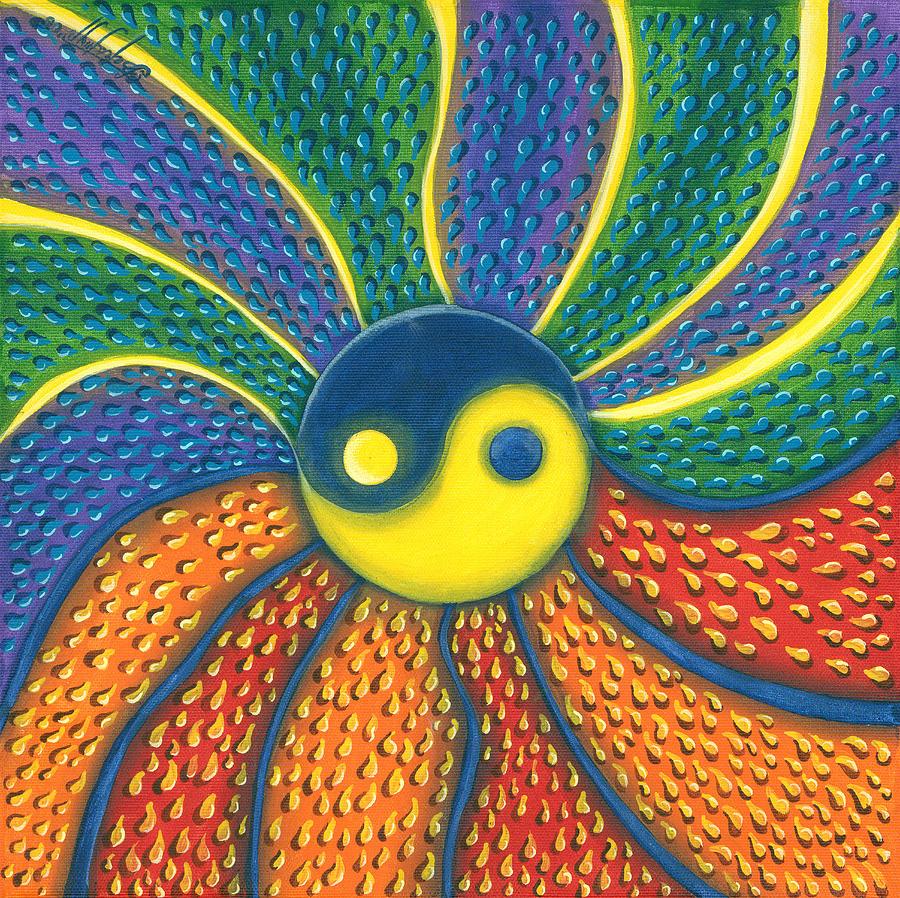 Yin Yang Painting - Yin Yang by Vera Tour