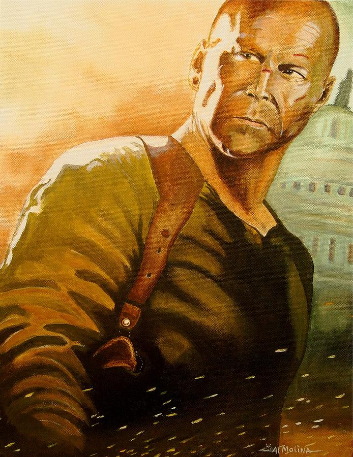Bruce Willis Painting - Yippee-ki-yay You Know The Rest by Al  Molina