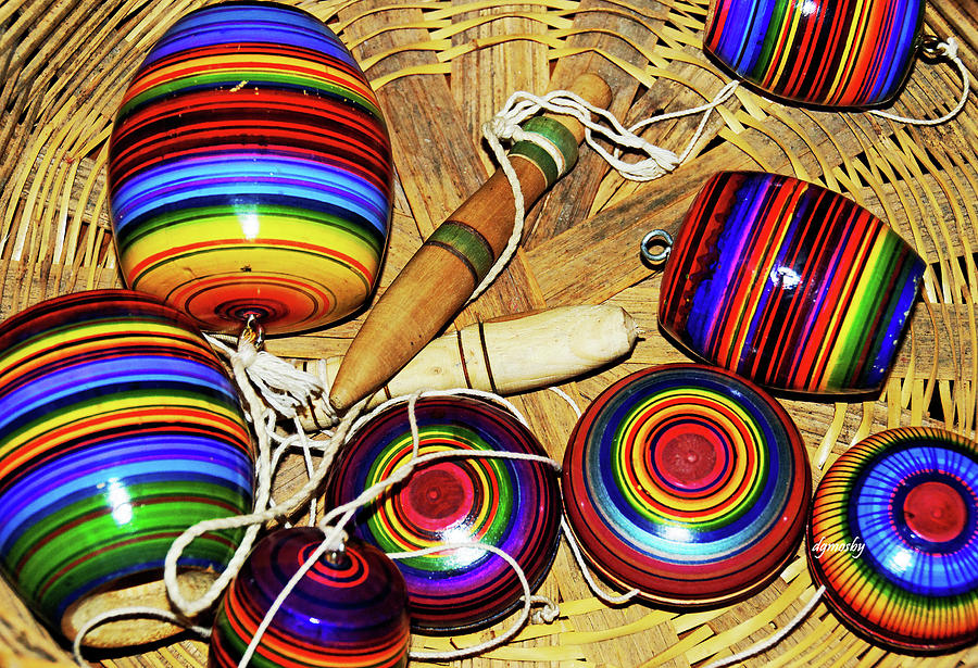 Colorful Photograph - Yo Yos 7881 by David Mosby