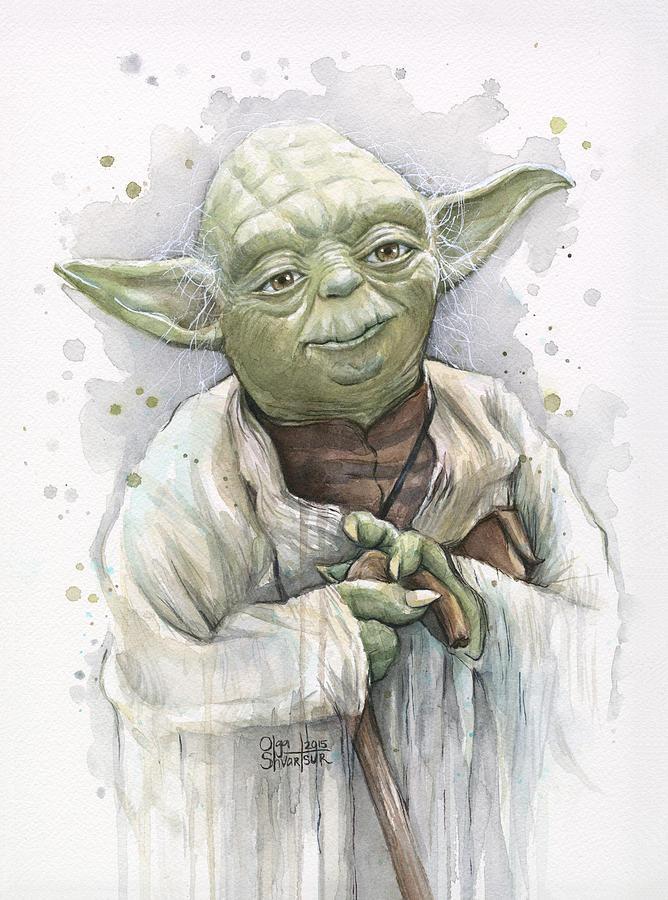 Yoda Painting - Yoda by Olga Shvartsur
