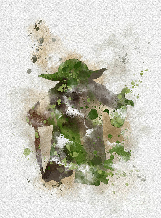 Star Wars Mixed Media - Yoda by My Inspiration