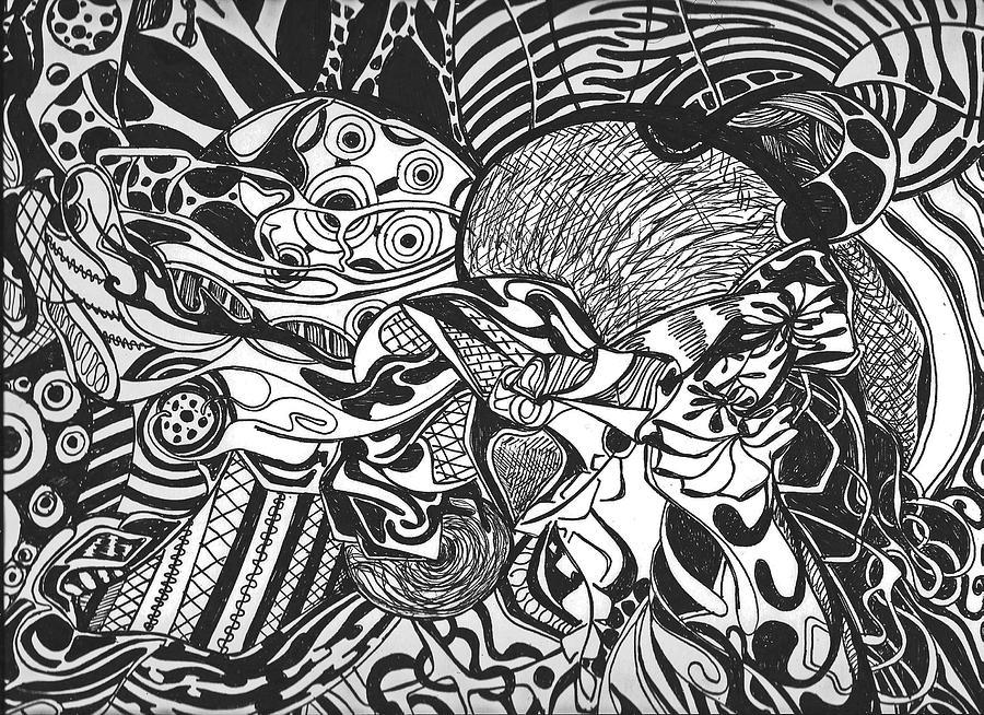 Line Drawing Yoda : Yoda in abstract drawing by jessica morgan