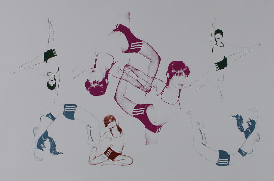 Yoga Mixed Media - Yoga 4 by Zhimin Zhai