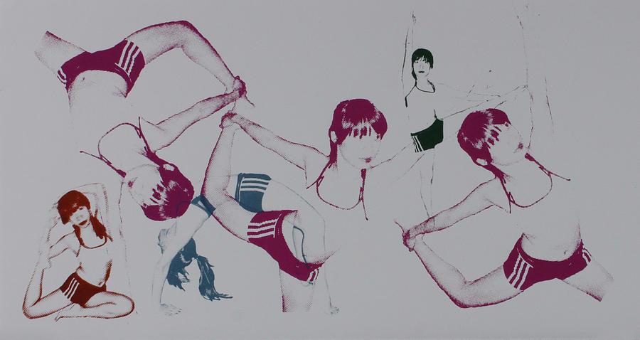 Yoga Mixed Media - Yoga 5 by Zhimin Zhai