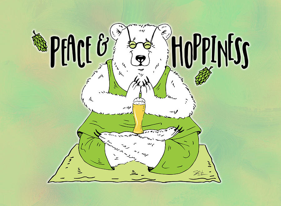 Yoga Beer Bear by Shari Warren