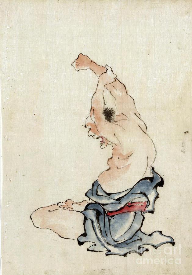 Yoga Photograph - Yoga Exercise Japan 1800s by Edward Fielding