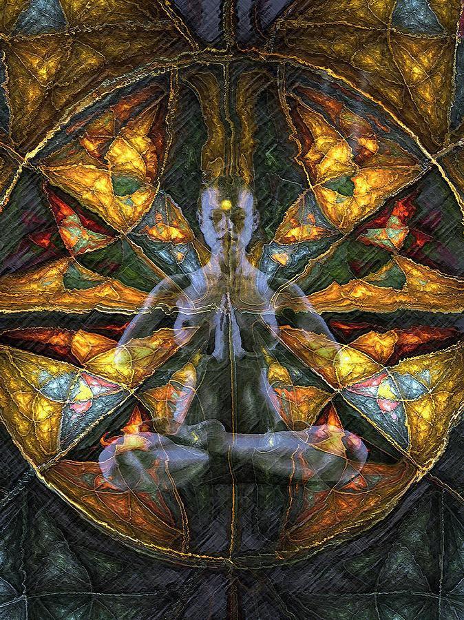 Fiori Yoga.Yoga Girl Digital Art By Claudio Fiori