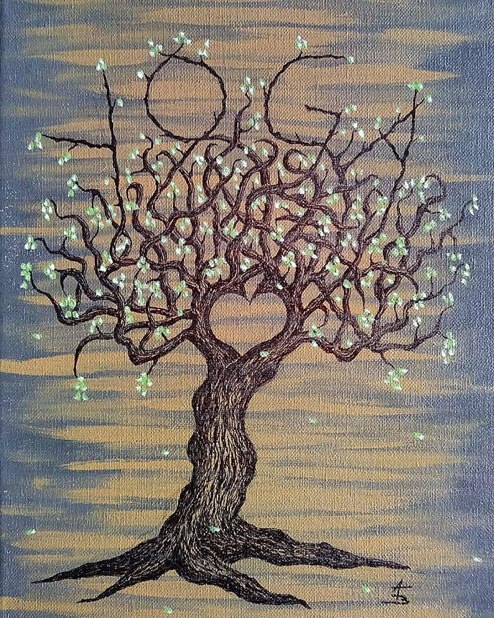 Yoga Love Tree by Aaron Bombalicki