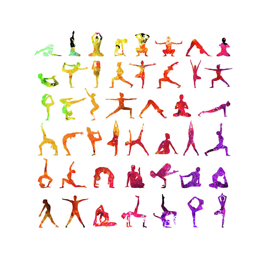 Yoga Poses Mixed Media by Gina Dsgn