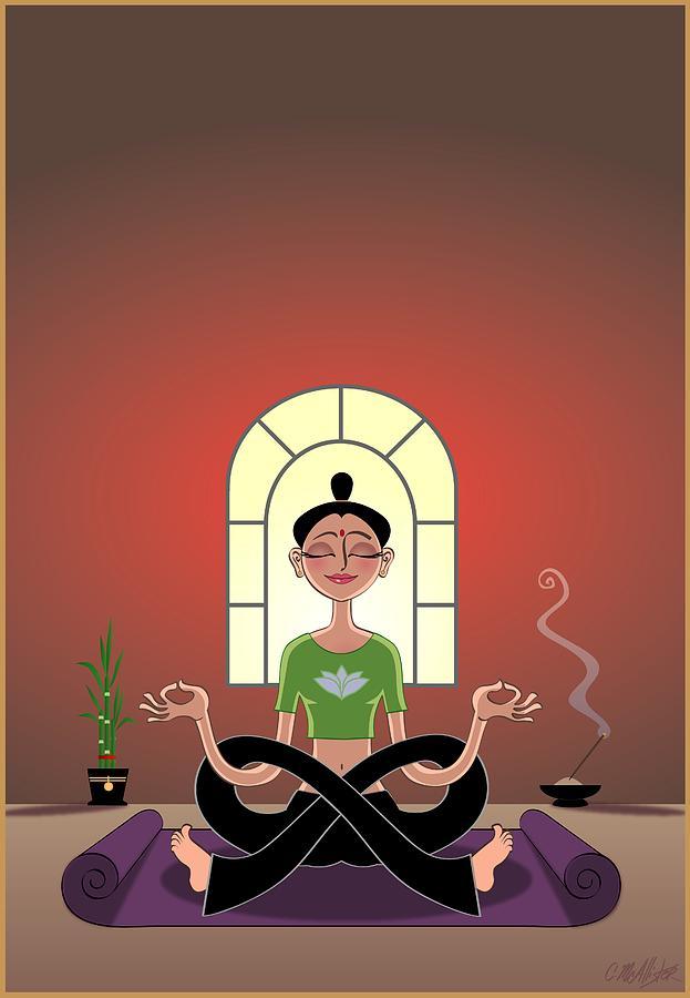 Yoga Digital Art - Yoga Pretzel by Cristina McAllister