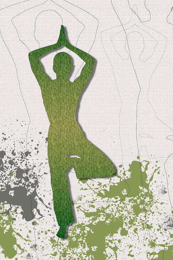 Yoga Silhouet by Adriana Zoon
