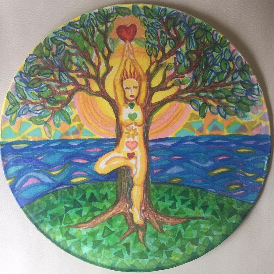 Yoga Tree Pose by Peg Toliver