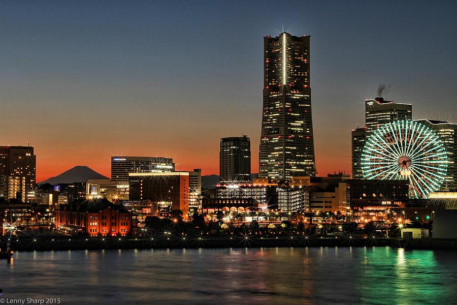 Yokohama Photograph - Yokohama At Dusk by Leonard Sharp