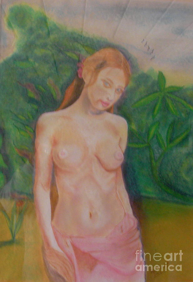 Portrait Pastel - Yolande by Neil Trapp