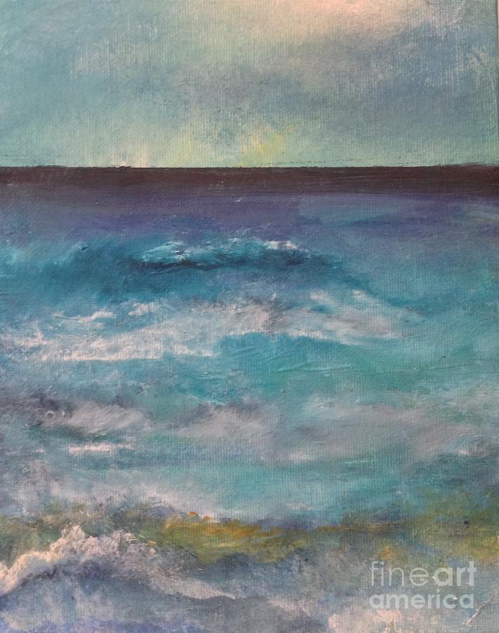 Ocean Painting - Yonder Blue 1 by Terri Davis