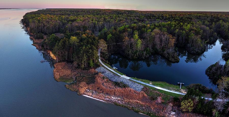 York River State Park Photograph - York River State PArk by Tredegar DroneWorks