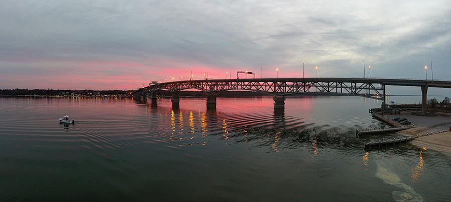 Yorktown Photograph - York River Sunset by Tredegar DroneWorks