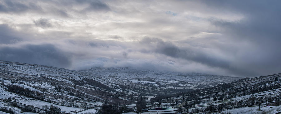 Snow Photograph - Yorkshire Dales Snow Clouds by Phillips and Phillips