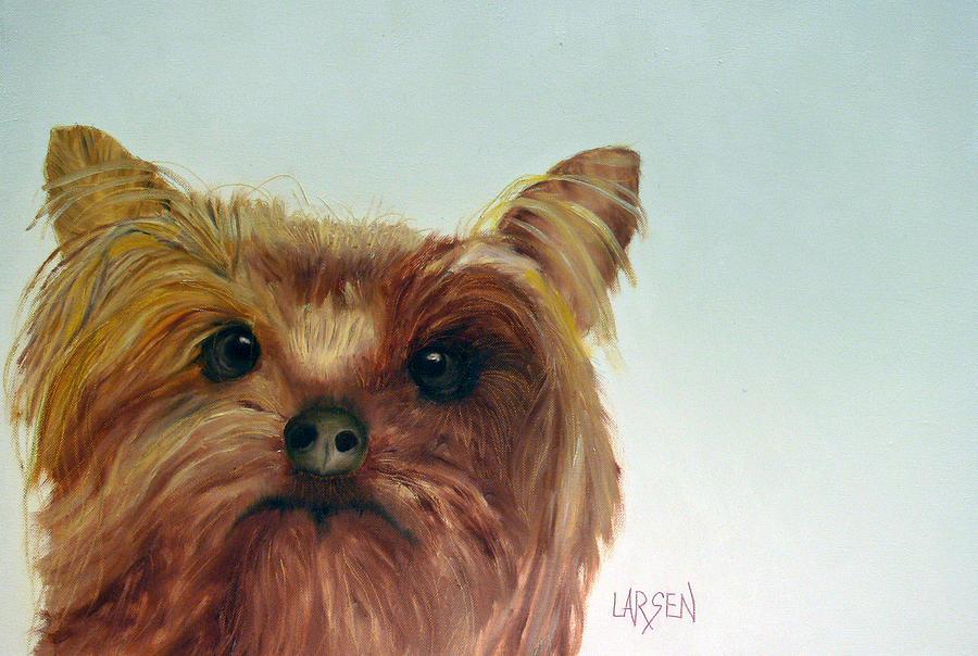 Yorkshire Terrier Painting by Dick Larsen