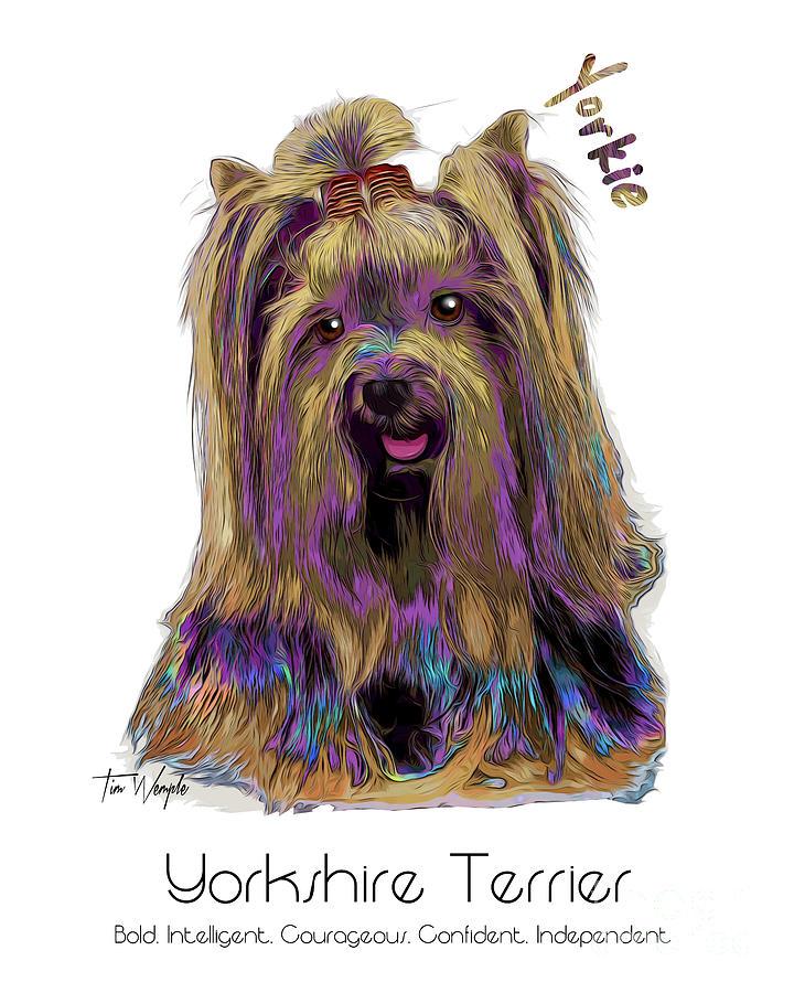 Yorkshire Terrier Digital Art - Yorkshire Terrier Pop Art by Tim Wemple