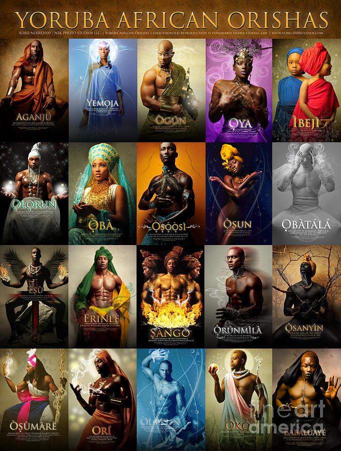 Yoruba African Orishas Poster Photograph by James C Lewis