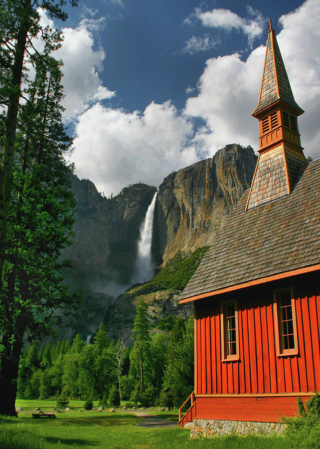Yosemite Falls Photograph - Yosemite Chapel by Tom Kidd