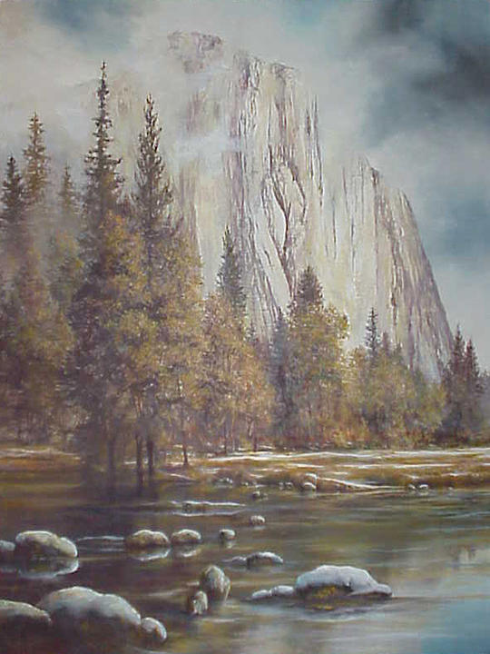 Oil Painting - Yosemite Clouds by Patricia Carlson