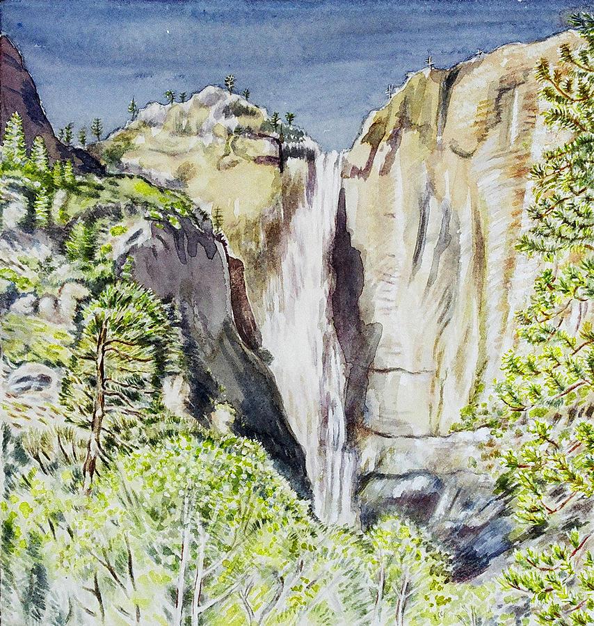 Landscape Painting - Yosemite Falls California by Patricia Buckley