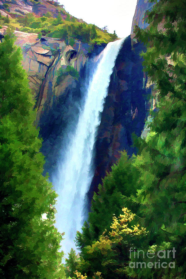 Yosemite Falls Color Print Photograph By Chuck Kuhn