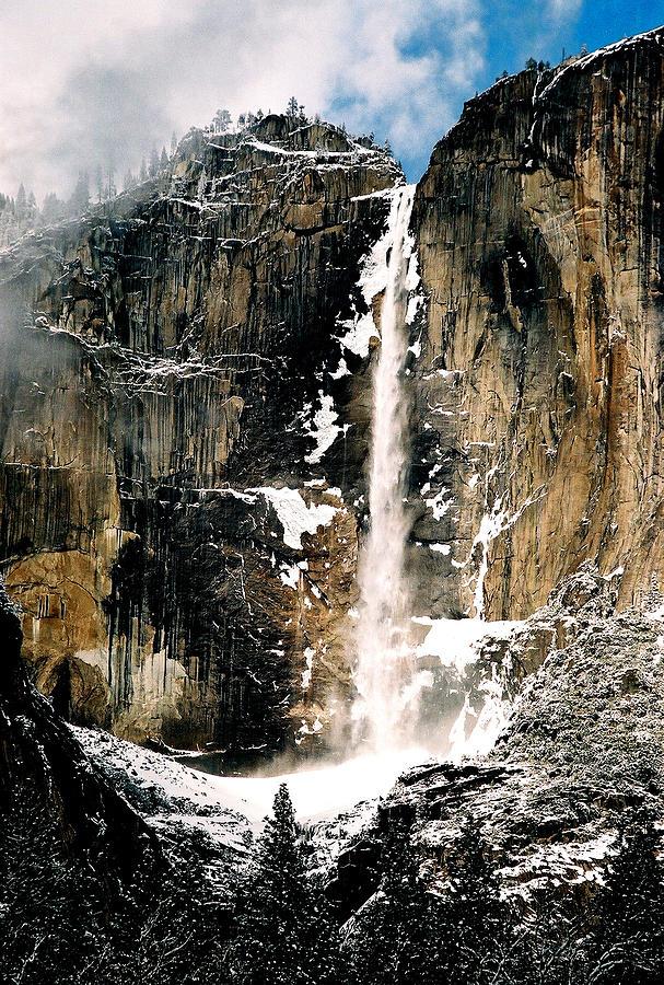 Yosemite Photograph - Yosemite Falls In Winter by Michael  Cryer