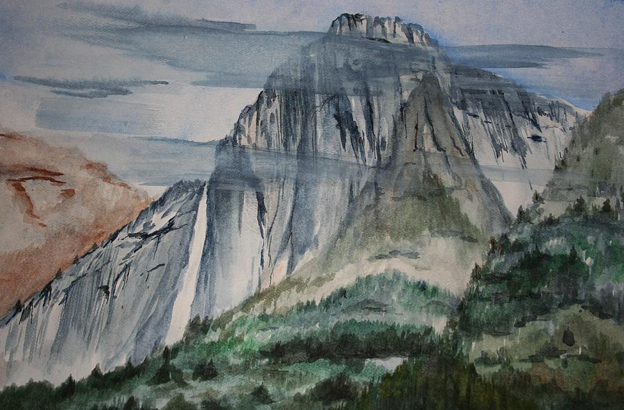 Waterfalls Painting - Yosemite Falls by Julie Lueders