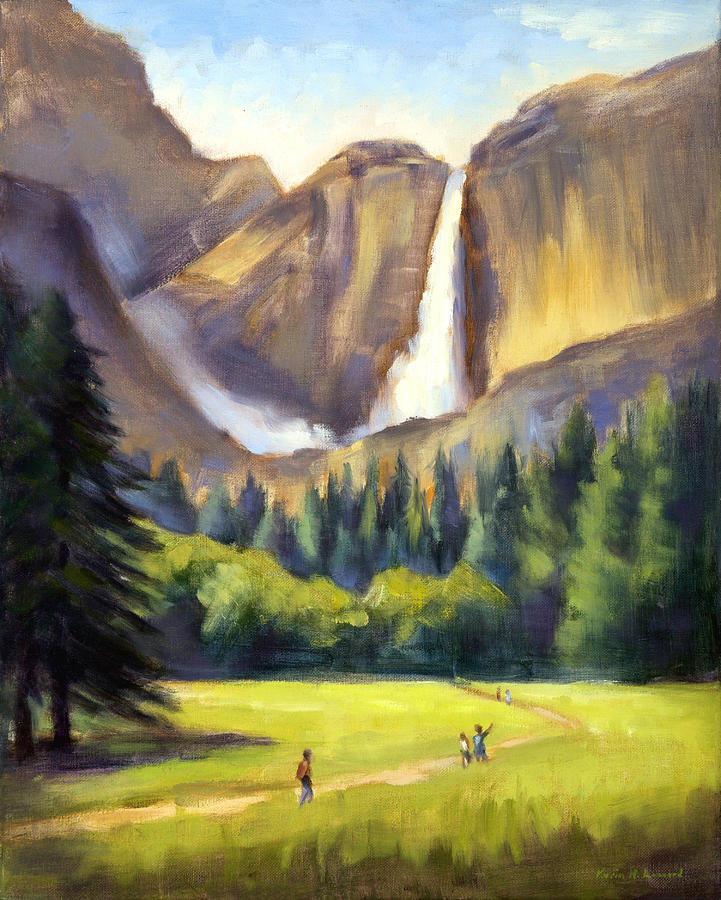 Yosemite Painting - Yosemite Falls by Karin  Leonard