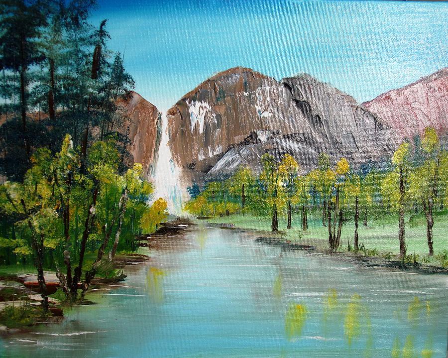 Landscapes Painting - Yosemite Falls by Larry Hamilton