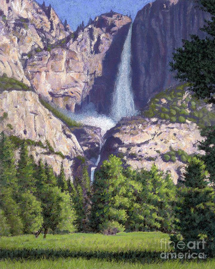 Waterfall Pastel - Yosemite Falls by Stephen Shub