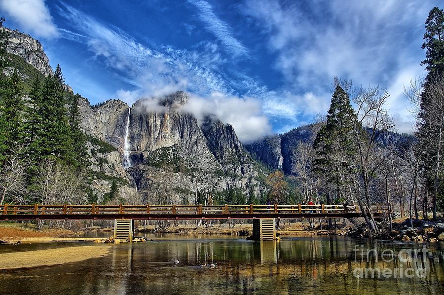 Yosemite Falls - Swinging Bridge by Alex Morales