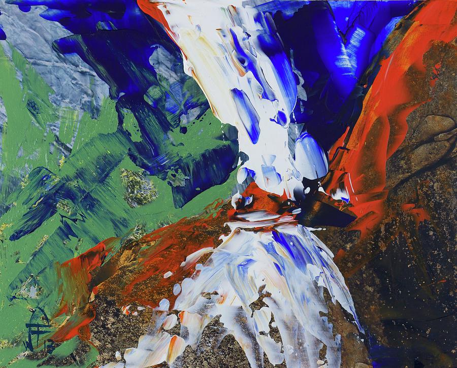 Yosemite Lower Falls  Painting by Walter Fahmy