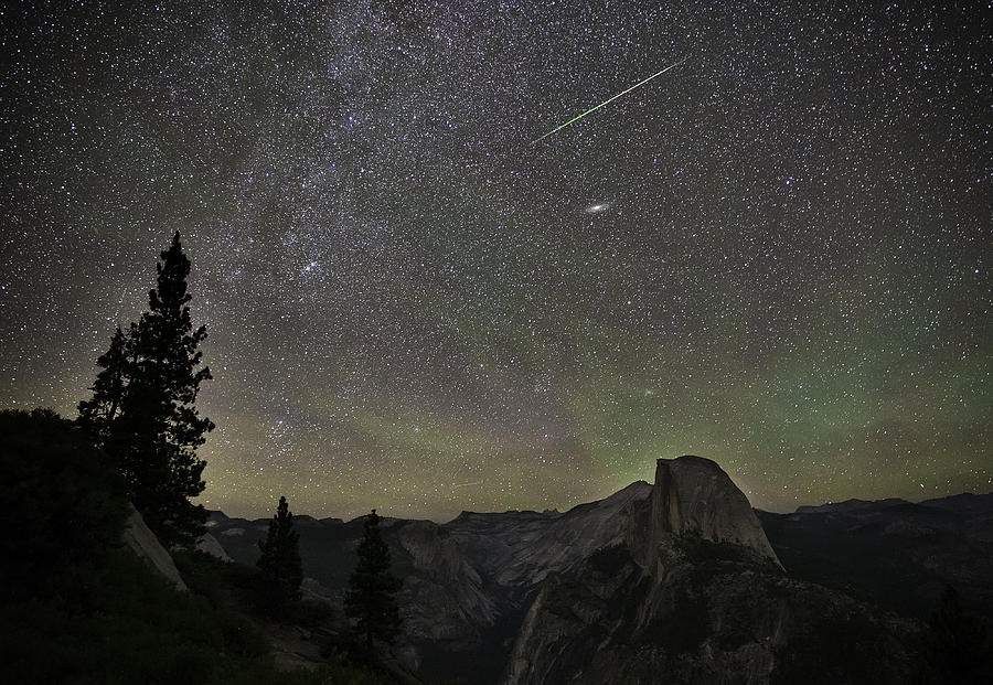 Yosemite Photograph - Yosemite Meteor Shower by Tony Fuentes