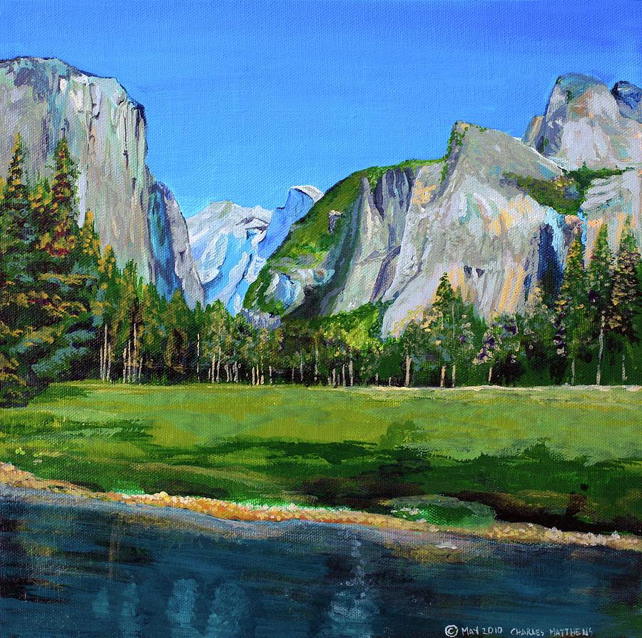 Spring Flowers Yosemite National Park: Yosemite National Park In The Spring Painting By Charles