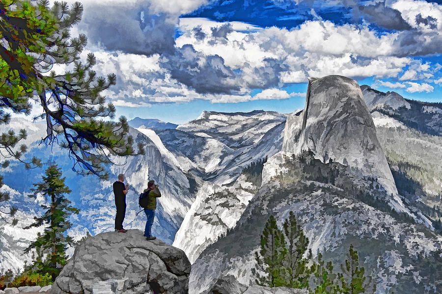 California Photograph - Yosemite Overlook by Dennis Cox WorldViews