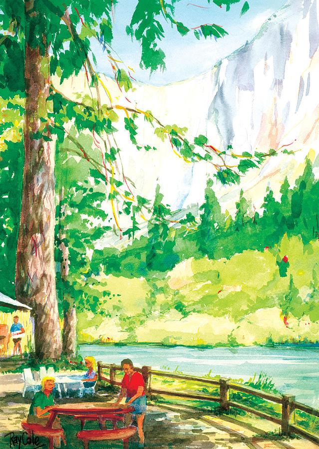 Yosemite Painting - Yosemite Picnic by Ray Cole