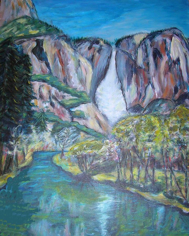 Yosemite Painting - Yosemite Reflections by Carolyn Donnell