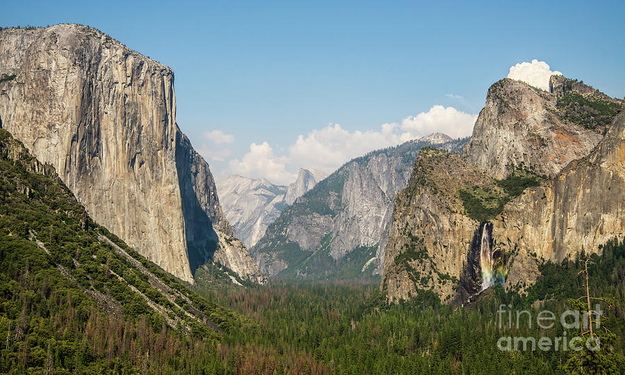 Yosemite Tunnel View with Bridalveil Rainbow by Michael Tidwell by Michael Tidwell