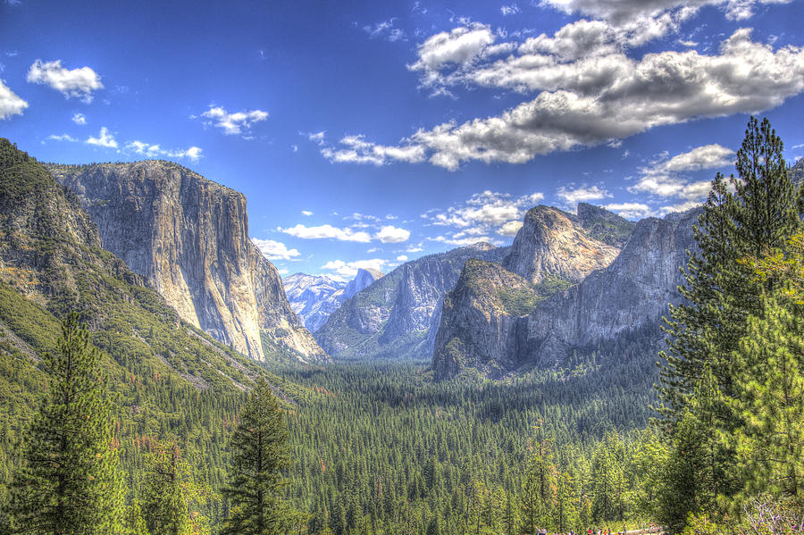 King's Canyon Photograph - Yosemite Valley Hdr by G Wigler