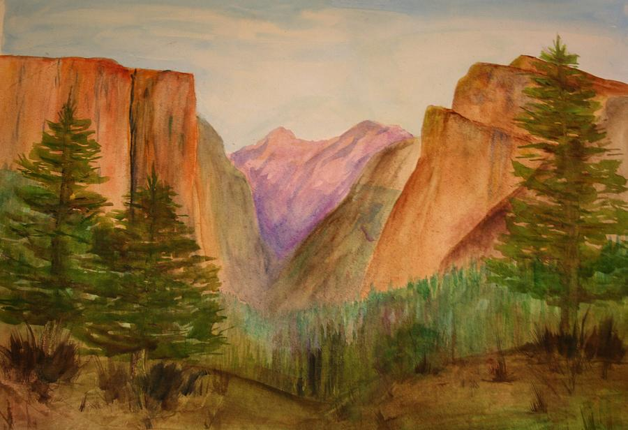 Landscape Painting - Yosemite Valley by Julie Lueders
