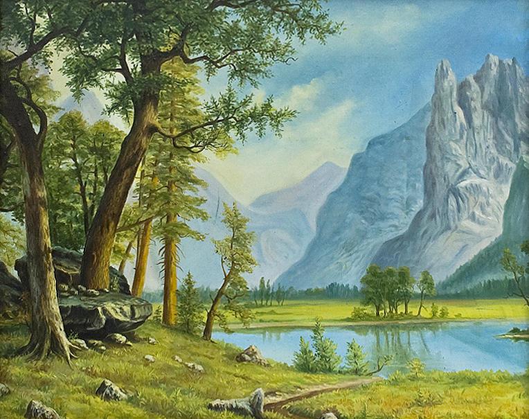 Landscape Painting - Yosemitie Valley by Vladimir Bibikov