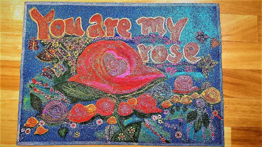 Butterflies Painting - You are my rose by Lynette Fekete