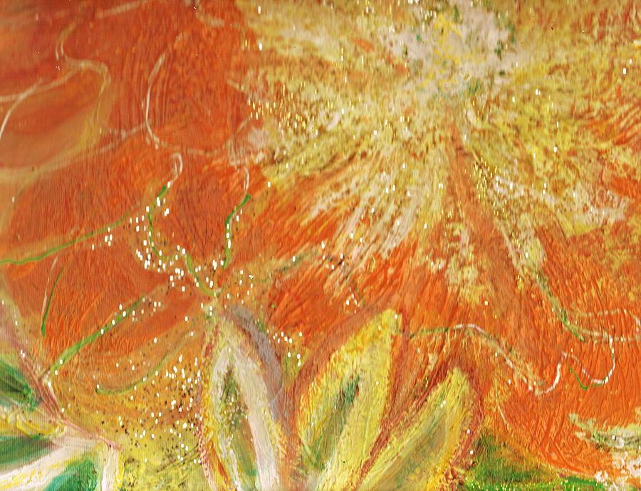 Orange Painting - You Are My Sunshine Flower by Anne-Elizabeth Whiteway