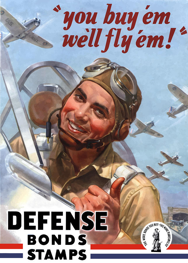 Fighter Pilot Painting - You Buy em Well Fly em by War Is Hell Store