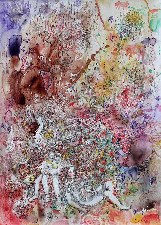 You Can Fly Painting by Aurelija Kairyte-Smolianskiene